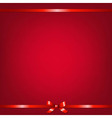 Red Background With Red Ribbon vector image vector image
