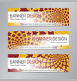 red yellow website header abstract banner vector image vector image