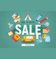 school sale vector image vector image
