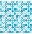 seamless background with snowflakes in circles vector image