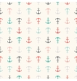 Seamless pattern of anchor shapes Endless texture vector image vector image