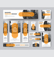 set horizontal vertical and square web banners vector image vector image