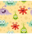 Set of Seamless Pattern with Good and Bad Bacteria vector image vector image