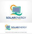 solar energy logo template design emblem design vector image