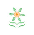 sun flower logo vector image