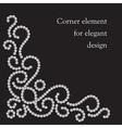 Swirl corner element vector image vector image