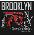 T-shirt Printing Brooklyn New York USA vector image vector image
