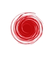 Twisted Spiral Abstract of red in the vector image vector image