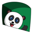 waving panda on white background vector image vector image