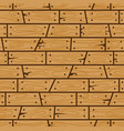 wood wall cartoon seamless pattern vector image vector image