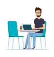 young man in the workplace avatar character vector image