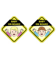 Baby on board - message sign vector image