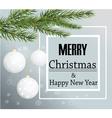 Merry Christmas card background Christmas balls vector image