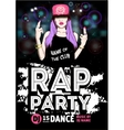 Rap Party poster vector image