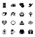16 decoration filled icons set isolated on white vector image vector image