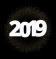 2019 a happy new year xmas greetings dark vector image vector image