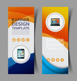 abstract banners set6 vector image