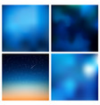 abstract blue blurred background set 4 vector image vector image
