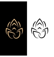 Abstract image of a lotus flower Black on white vector image vector image