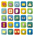 Application color icons with long shadow vector image vector image