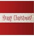 Big white Christmas Banner on red Background vector image vector image