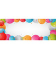 birthday banner with balloon and confetti vector image vector image