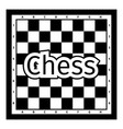 black and white chess board vector image