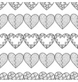 Black and white seamless pattern with decorative