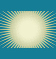 blue sun pop art background vector image