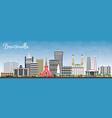 brazzaville republic of congo city skyline with vector image