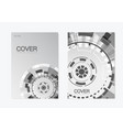 brochure with abstract round structure technology vector image vector image