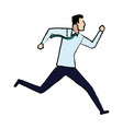 businessman running success achievement winner vector image