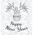 cake with happy new year words vector image vector image