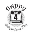 calendar with date - 4th of july independence day vector image vector image