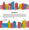 card template with seamless city skyline in vector image vector image