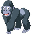 cartoon silverback gorilla vector image