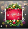 christmas with german frohe vector image vector image