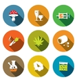 Color Drugs flat icon collection vector image