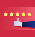 concept rating customer review vector image