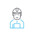 construction worker linear icon concept vector image vector image