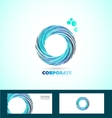 Corporate circle business logo whirlpool rotation vector image vector image