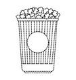 delicious pop corn isolated icon vector image vector image