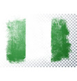 distressed nigeria flag grunge texture style vector image vector image