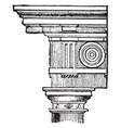 doric order stood vintage engraving vector image vector image