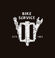 emblem for bicycle service vector image