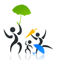 family with the child under an umbrella a vector i vector image vector image