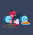 fitness and bodybuilding equipmen vector image