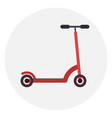 flat red kick scooter icon vector image