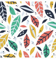 forest leaf hand drawn seamless pattern vector image