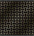 geometric art deco pattern - seamless vector image vector image